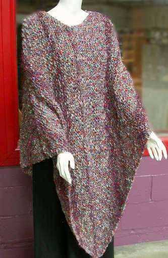 Easy Poncho Knitting Pattern Free : Garter stitch poncho knitting projects pinterest