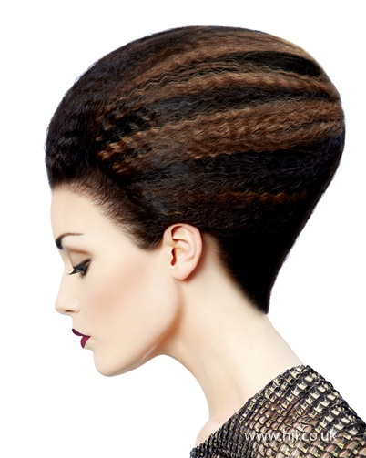 style avant garde crimped hairstyle by steve rowbottom hairstyle ...