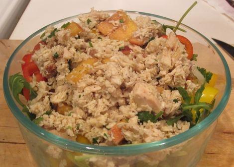 Peach Cilantro Chicken Salad | Chicken Soups / Salads (LC/GF) | Pinte ...