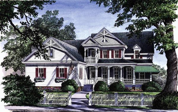 country farmhouse victorian house plan 86130