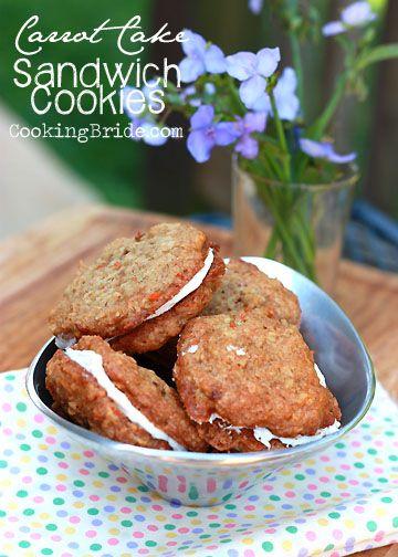 Carrot Cake Sandwich Cookies - CookingBride.com