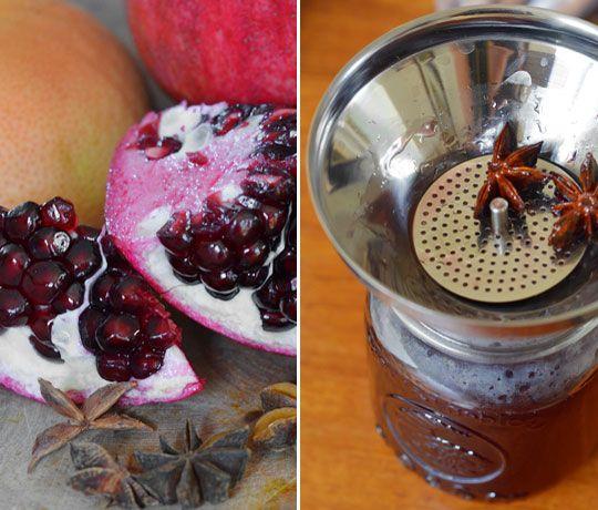 Pink Grapefruit and Pomegranate Soda | Recipe
