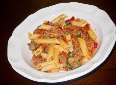Fresh Tomato and Sausage Pasta | Noodley Things | Pinterest