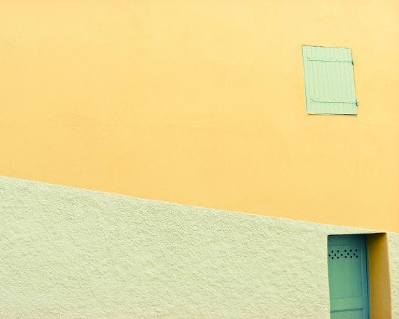 "... building lines bold color 8x10 - ""Lemon Sherbet"". $21.00, via Etsy"