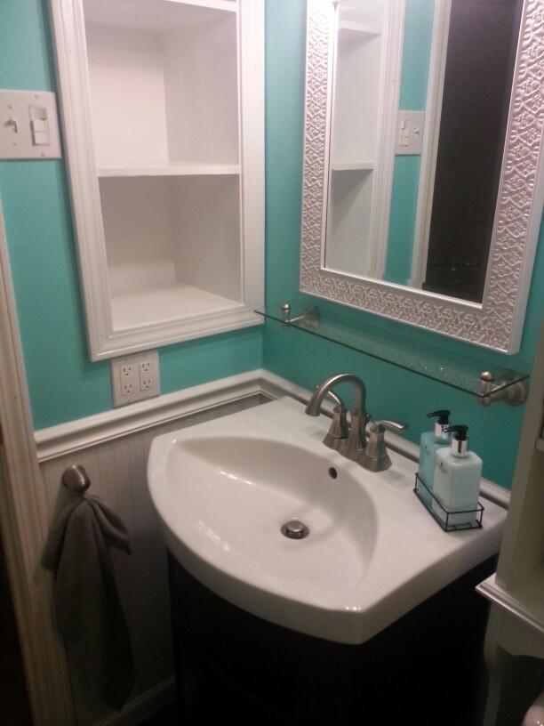 Tiffany Blue Bathroom Designs : More Tiffany blue bathroom  Girls Bathroom  Pinterest