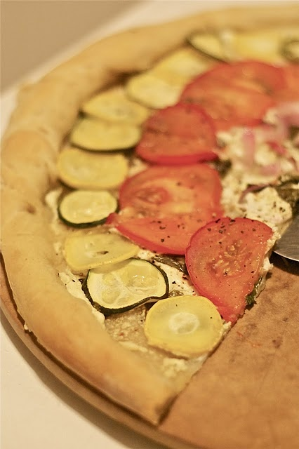 Lemony goat cheese pizza. | Good Eats | Pinterest