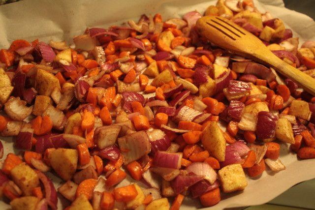 vegan #glutenfree Cardamom MIllet & Cinnamon Roasted Vegetables