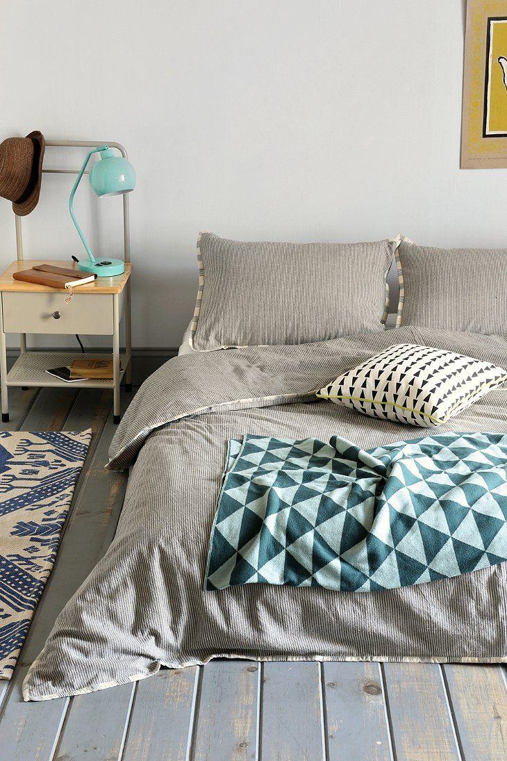 4040 Locust Contrast Stripe Duvet Cover