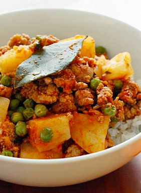 Ground Turkey with Potatoes and Spring Peas--Cumin and cilantro add flavor to this quick, comforting weeknight dish.