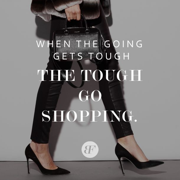 They don't call it retail therapy for nothing. #QOTD