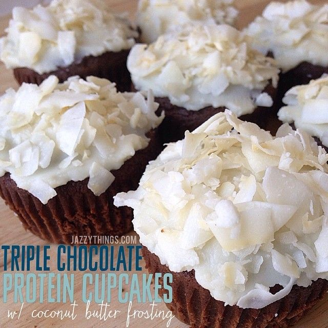 Chocolate Cupcakes with Coconut Frosting | snacks/dessert | Pinterest