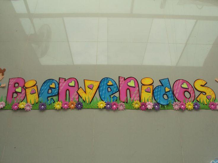 Cartel de bienvenidos a clases hecho en foami - Imagui