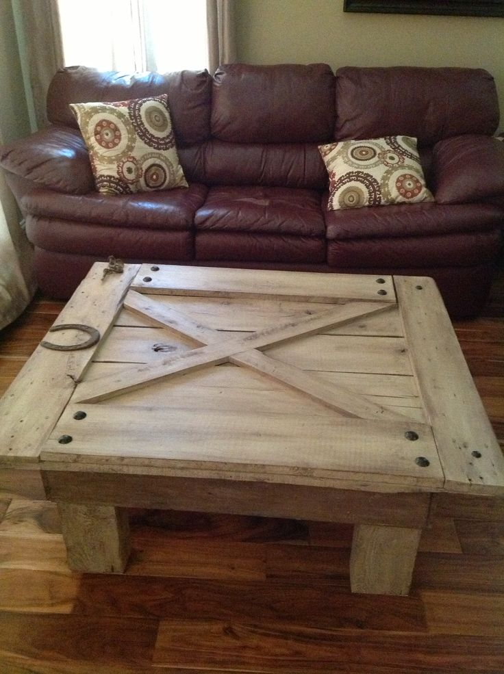 Old Barn Door Turned Into A Coffee Table Dream Houses Stuff For My Dream Ho