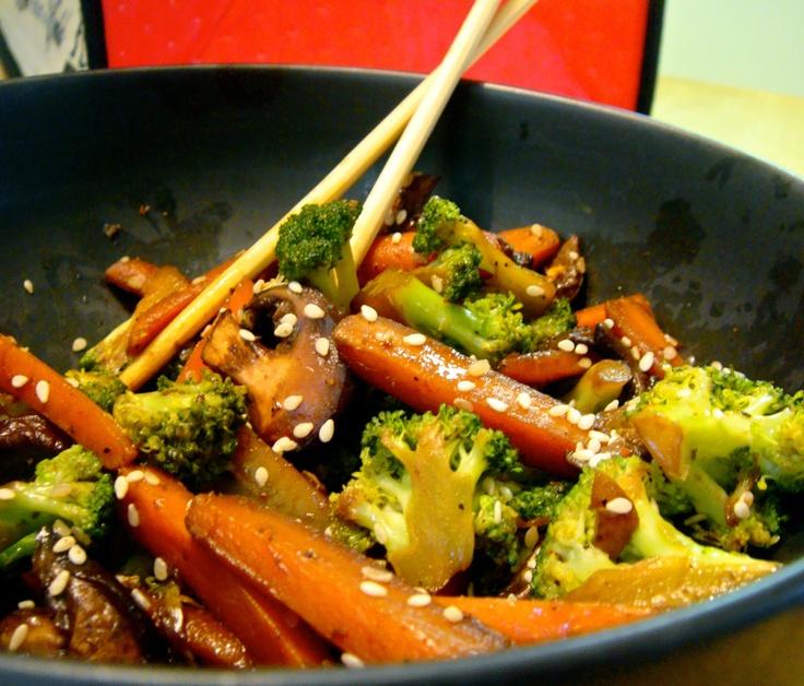 Sesame Broccoli and Carrot Stir Fry