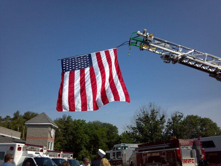 flying flag on memorial day