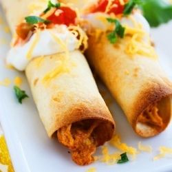 ... veggie taquitos filled with black beans, kale, and butternut squash