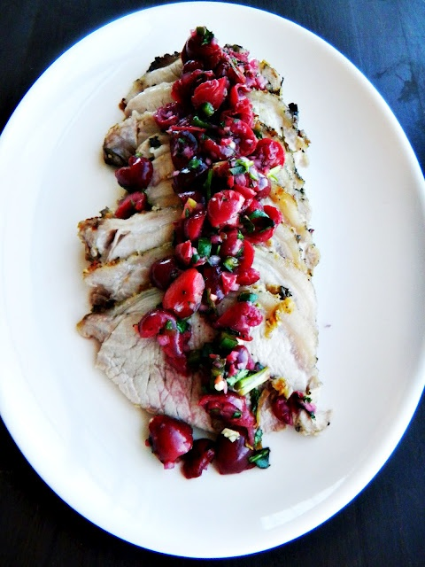 grilled pork tenderloin with fresh cherry salsa