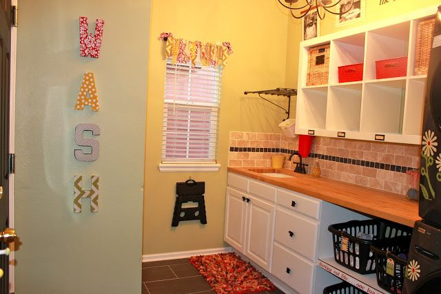 Achieving Creative Order: Laundry Room--Before and After