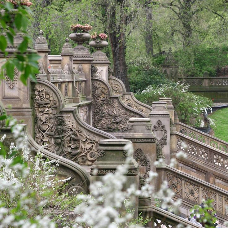 Central Park Bethesda Terrace Relaxation Pinterest