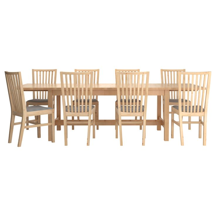 Norden norrn s table and 8 chairs ikea home sweet for Table norden ikea
