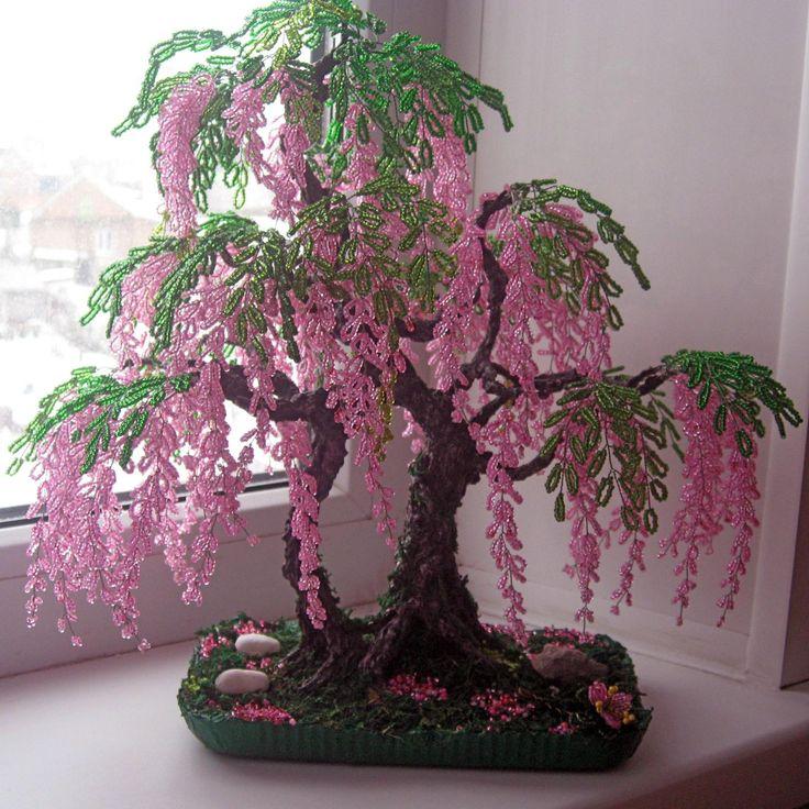 Глициния деревья из бисера своими руками 472