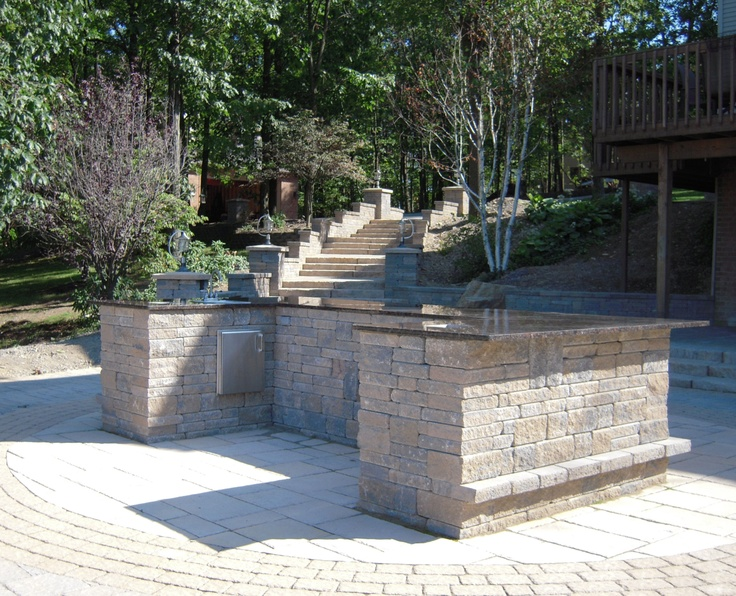 Paver Patio Built In Grill Home Pinterest
