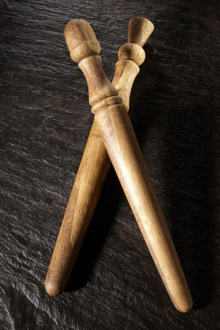 ... porridge stirrers, were turned on a foot-powered pole-lathe
