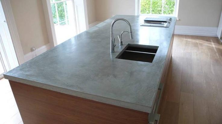 polished concrete worktops kitchens betoni pinterest. Black Bedroom Furniture Sets. Home Design Ideas