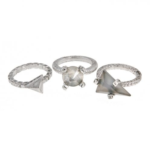 ERICKSON BEAMON ROCKS GILDED LILY SET OF THREE RINGS