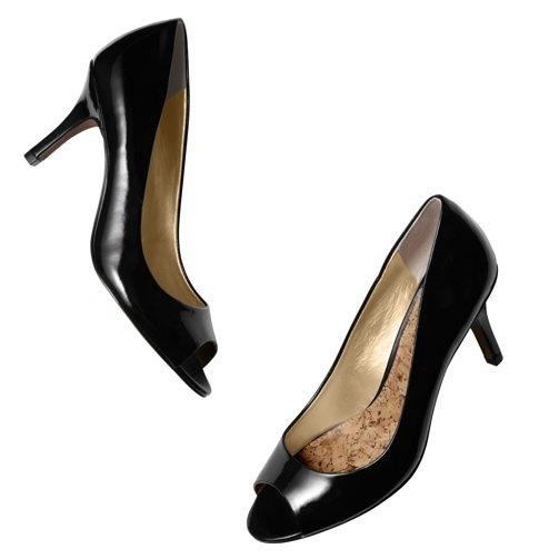 Good work shoes! Foster Peep Toe Mid Heels