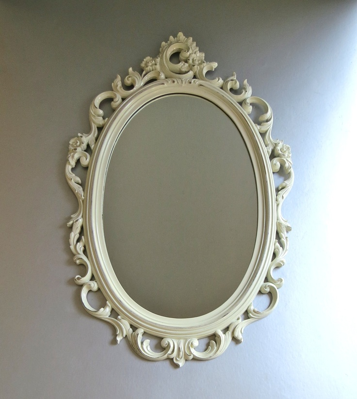 vintage syroco mirror white mirror ornate mirror fancy