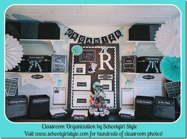 Classroom Organization by Schoolgirl Style  www.schoolgirlstyle.com