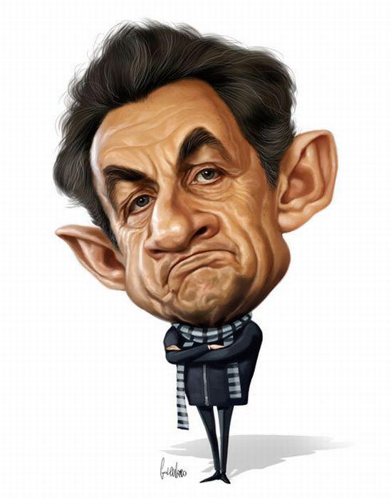 Caricaturas graciosas de políticos famosos