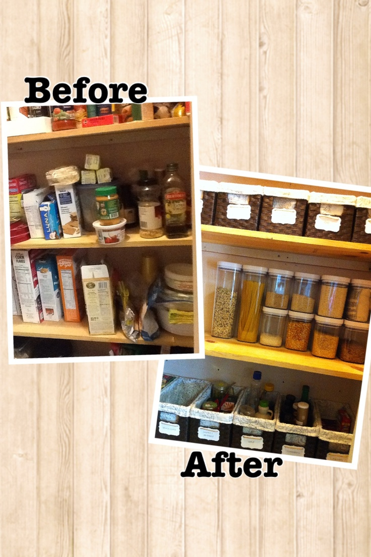 Before And After Pantry Organization Chaos Organizing