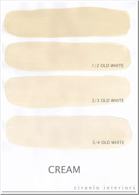 Cream og old white chalk paint annie sloan pinterest - Shades of cream color paint ...