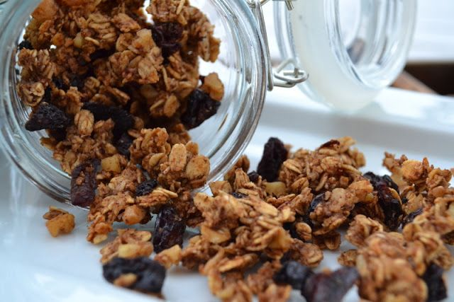 Cookin' Cowgirl: Apple Pie Granola with Dried Cherries and Walnuts