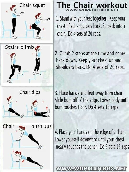 Chair workout health and exercise pinterest for Chair workouts