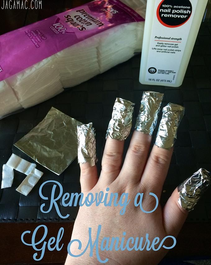 Removing a Gel Manicure at Home