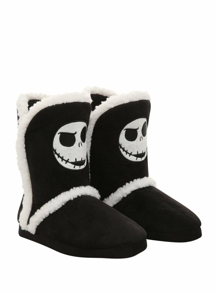 The Nightmare Before Christmas Jack Slipper Boots on Wanelo