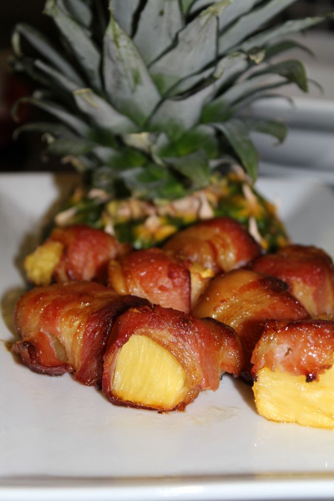 Bacon Wrapped Pineapple Bites | recipes | Pinterest