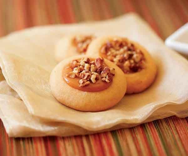 Nutty Caramel Thumbprint Cookies | Recipe