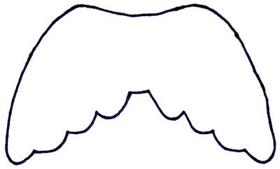 angel wing pattern print out this angel wing template