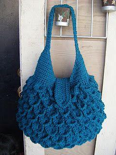Crocodile Crochet Bag - pattern etsy