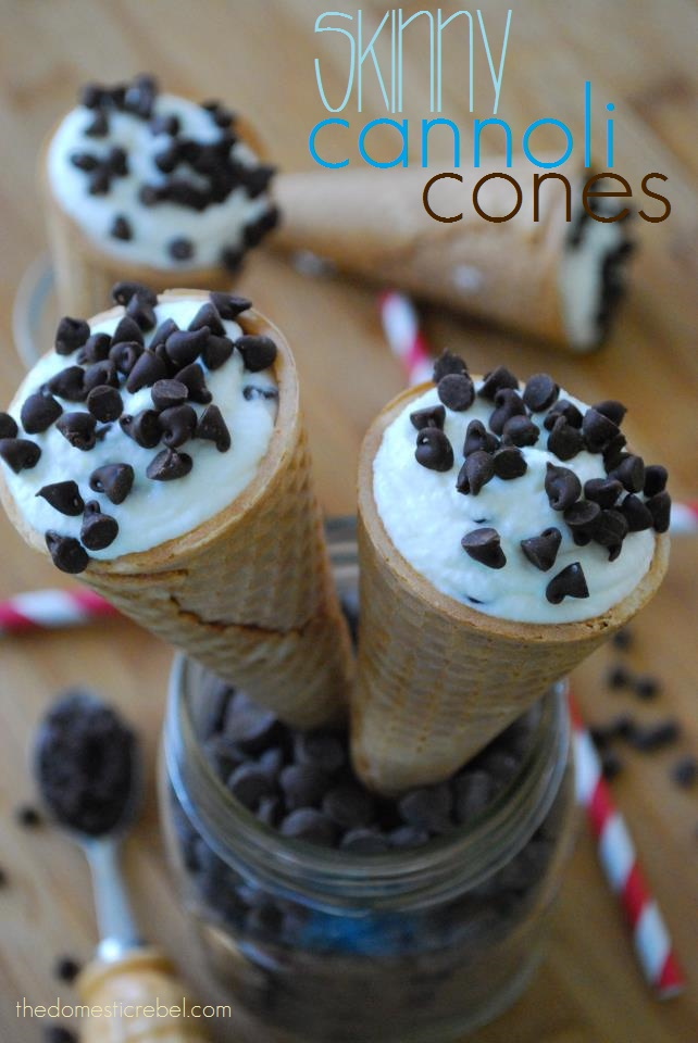 cannoli cones | I'll have my cake and eat it too | Pinterest