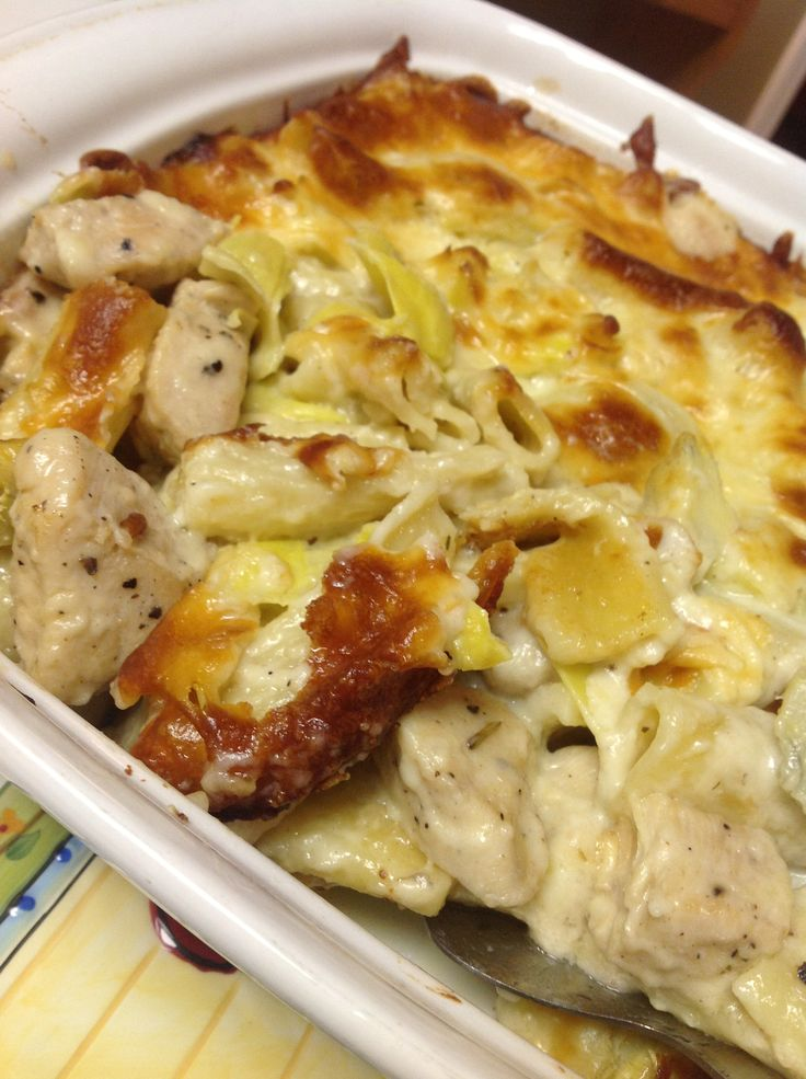 Baked Artichoke Chicken Pasta | Recipe