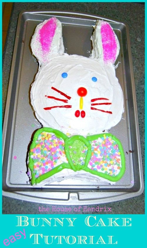 Easy Easter Bunny cake Tutorial - Just two simple cuts and you are ...