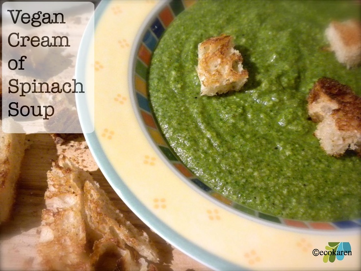 Vegan cream of spinach soup! | For My Healthy Living! | Pinterest