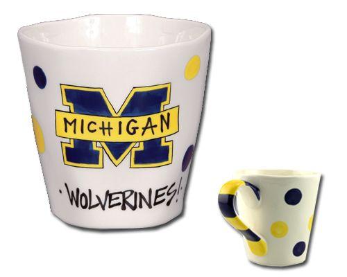 university of michigan sculpted mug