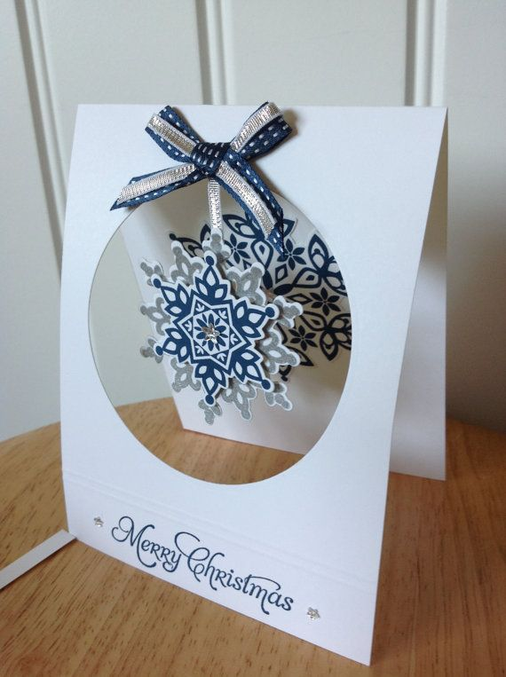 Stampin Up handmade Christmas card hanging by treehouse05 on Etsy