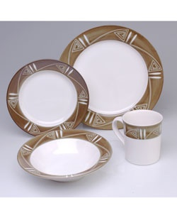 studio nova tribal arts pattern dinnerware set